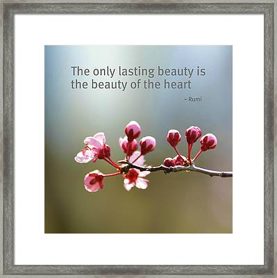 Lasting Beauty Framed Print by P S