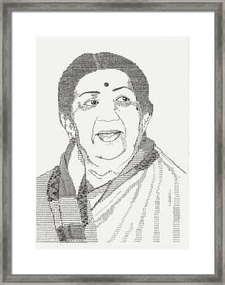 Lata Mangeshkar - Nightingale Of Indian Music Framed Print