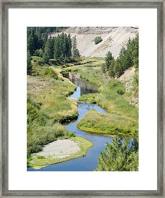 Framed Print featuring the photograph Latah Creek by Ben Upham III