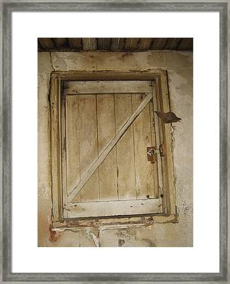 Latched Framed Print by Sheryl Burns