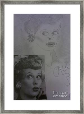 Late Actress Lucille Ball Framed Print