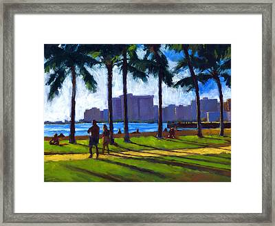 Late Afternoon - Queen's Surf Framed Print by Douglas Simonson