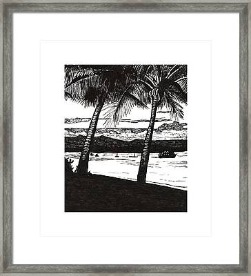 Late Afternoon At Dunk Island Framed Print by Monica Hudson