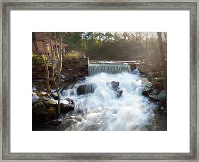 Framed Print featuring the photograph Late Afternoon At The Duck Pond by Sue Collura