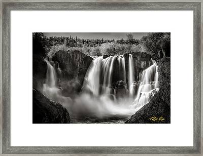 Late Afternoon At The High Falls Framed Print by Rikk Flohr