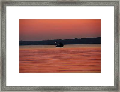 Late Afternoon At The Lake. Framed Print