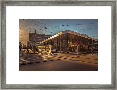 Late Afternoon At The Transport Hub Framed Print