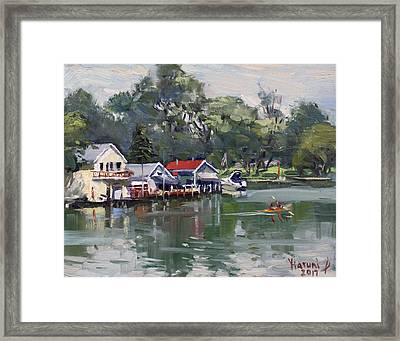 Late Afternoon By The Canal Framed Print
