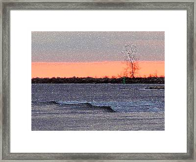 Late Afternoon By The Lake 2 Framed Print by Lyle Crump