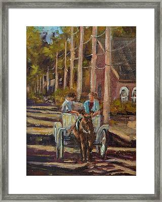 Late Afternoon Carriage Ride Framed Print by Charles Schaefer