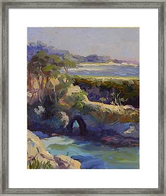 Late Afternoon China Cove Framed Print by Maryanne  Jacobsen