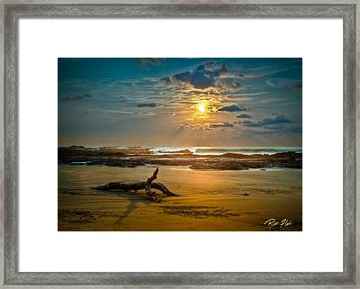 Framed Print featuring the photograph Late Afternoon Costa Rican Beach Scene by Rikk Flohr