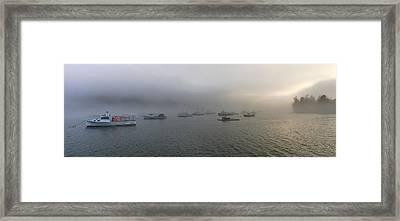 Late Afternoon Fog At Cutler Harbor Framed Print