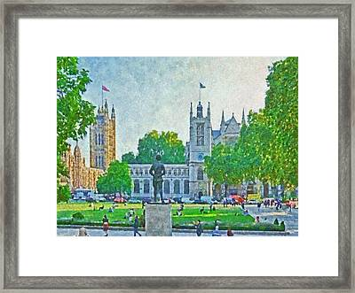 Late Afternoon In Parliament Square Framed Print by Digital Photographic Arts