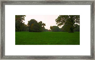 Late Afternoon In The Park Framed Print