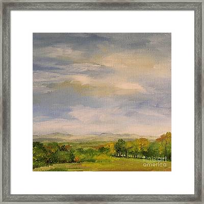 Framed Print featuring the painting  Late Afternoon In Vermont  by Laurie Rohner