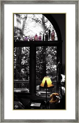Late Afternoon Light Across Arch Window Framed Print