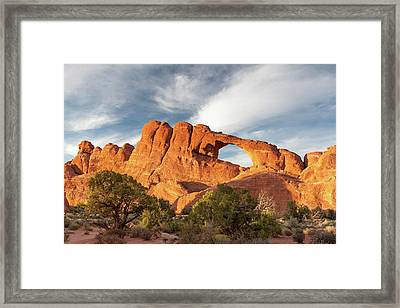 Late Afternoon Light On Skyline Arch Framed Print