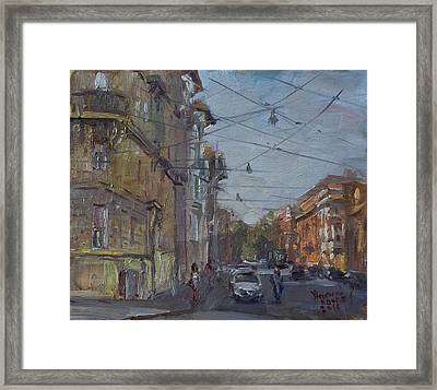 Late Afternoon Light - Regina Margherita -rome Framed Print by Ylli Haruni