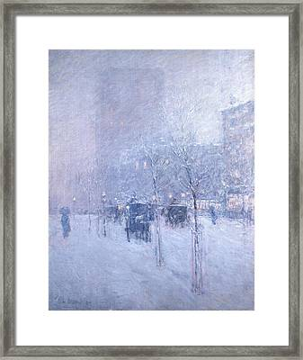 Late Afternoon, New York, Winter Framed Print by Childe Hassam