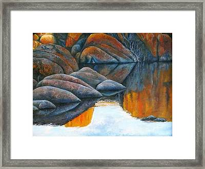 Late Afternoon Reflections Framed Print by Gus Lopez