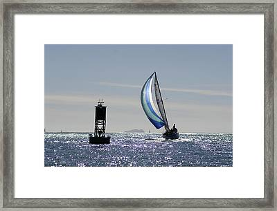 Late Afternoon Sail Framed Print