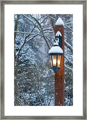 Late Afternoon Snow Framed Print