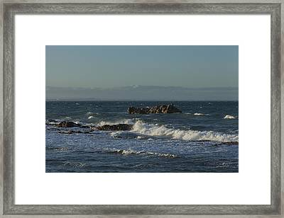 Late Afternoon Waves Framed Print