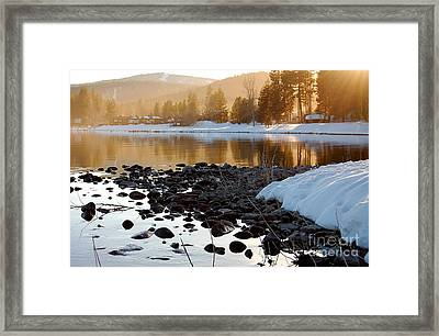 Late Aternoon  Lake Tahoe Framed Print by Heather S Huston