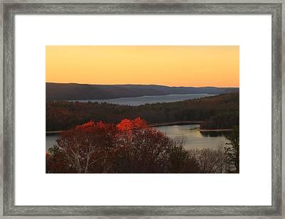 Late Autumn At Quabbin Framed Print by John Burk