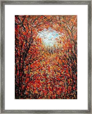 Late Autumn Framed Print by Natalie Holland