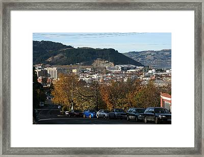 Late Autumn View To North Dunedin Framed Print