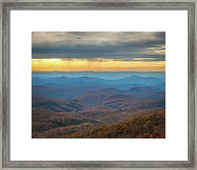 Late Autumn Vista Framed Print
