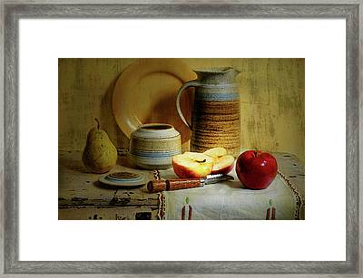 Late Day Break Framed Print