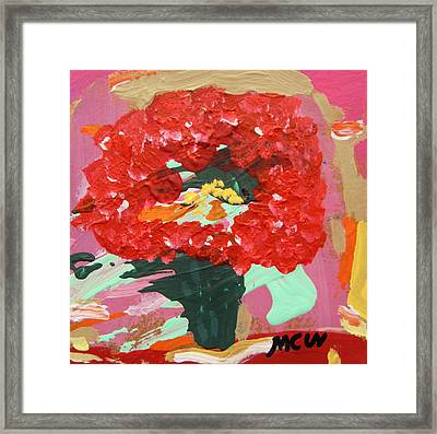 Late Day Geranium Framed Print by Mary Carol Williams