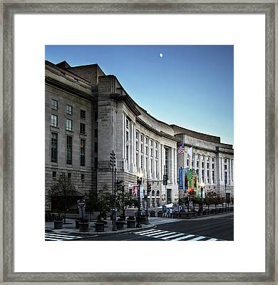 Framed Print featuring the photograph Late Evening At The Ronald Reagan Building by Greg Mimbs