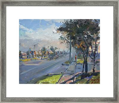 Late Evening In Guelph Street Georgetown Framed Print by Ylli Haruni