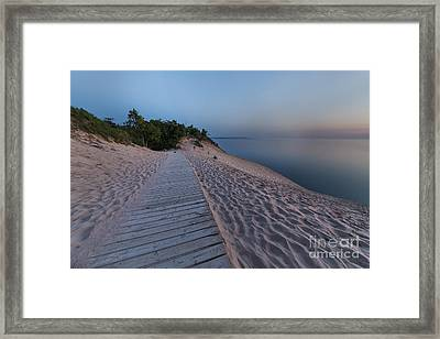 Late Evening In Summer At The Dunes Framed Print