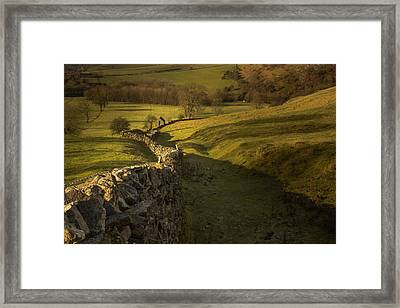 Late Evening In The Peak District Framed Print