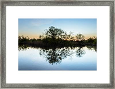 Late Evening Reflections I Framed Print by Marco Oliveira