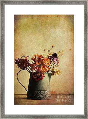Late Fall Bouquet Framed Print by Elena Nosyreva