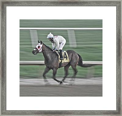 Late For A Date Framed Print by Betsy Knapp