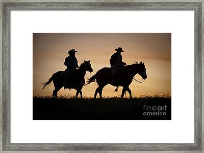 Late For Supper Framed Print