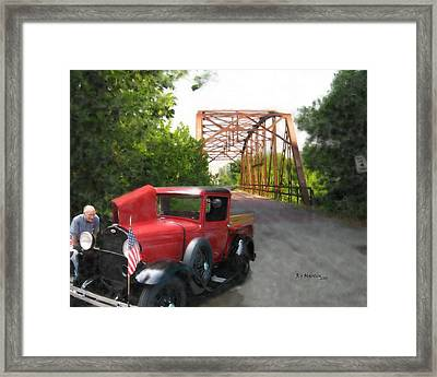 Late For The Parade Framed Print