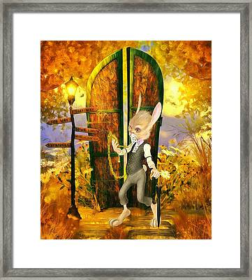 Late For The Party Framed Print