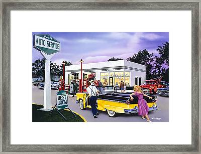 Late For The Prom Framed Print