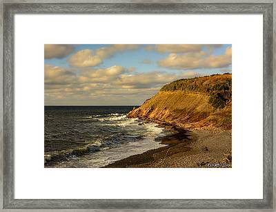 Late In The Day In Cheticamp Framed Print