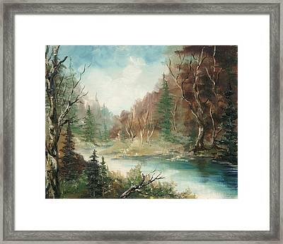 Framed Print featuring the painting Late In The Season by Rebecca Kimbel