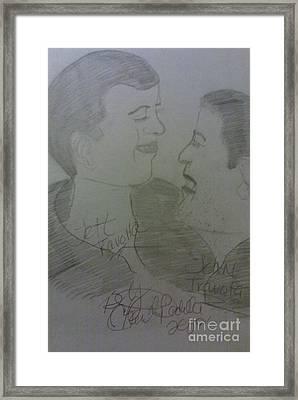Late Jett And John Travolta  Framed Print