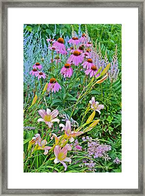 Late July Garden 3 Framed Print by Janis Nussbaum Senungetuk